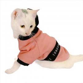 London Pineapple Kapsonlu Sweatshirt Kedi Süeteri Kedi Kıyafeti