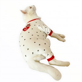 Love Hearts Penye Tulum Kedi Tulumu Kedi Elbisesi