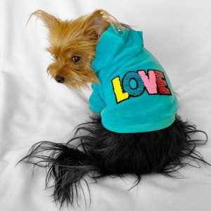 Love Velvet Kapşonlu Sweat by Kemique Köpek Kazağı