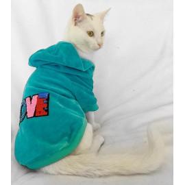 Love Velvet Sweatshirt Kedi Süeteri Kedi Kıyafeti