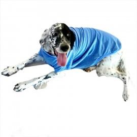 Mavi Martı Desen Tişört Büyük Köpekler İçin