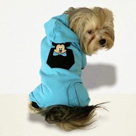 Mavi Sevimli Fare Köpek Tulumu Köpek Kıyafeti