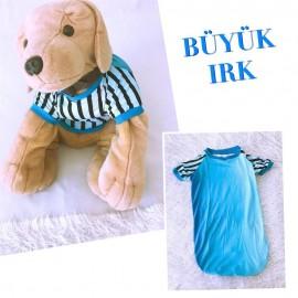 MAVİŞ TİŞÖRT BÜYÜK KÖPEKLER İÇİN - Köpek Kıyafeti - Köpek Elbisesi
