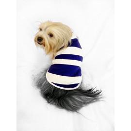Mega Cream Stripe Atlet  by Kemique Köpek Kıyafeti Köpek Elbise