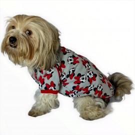 Red Mickey İnce Köpek Ceketi Köpek Kıyafeti Köpek Elbisesi Köpek Modası