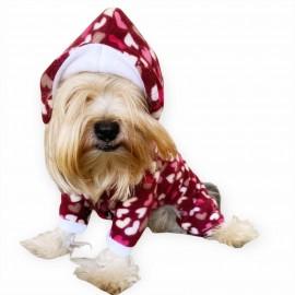 Mini Hearts Polar Kapşonlu Köpek Tulumu,Kıyafeti