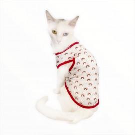 Mini Rainbows Atlet by Kemique  Kedi Kıyafeti Kedi Elbise