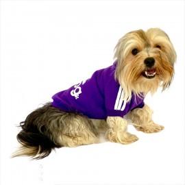 Mor Adidog Kapşonlu Köpek Sweatshirt Köpek Kazağı