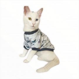 My Forest Oval Yaka Tişört Kedi Kıyafeti Kedi Elbisesi