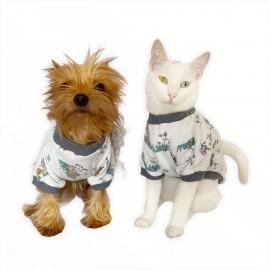 My Forest  Oval Yaka Tişört Köpek Kıyafeti Köpek Elbisesi