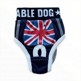 Navy England Flag Kemique's Secret Köpek İç Çamaşırı  REgl Külot  DON
