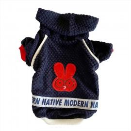 Navy Native Bunny Kapsonlu Sweatshirt Kedi Süeteri Kedi Kıyafeti