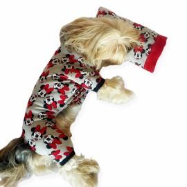 Nighty Mickey Penye Tulum Yastık Takım Uyku Set  Köpek Tulumu  Köpek Elbisesi