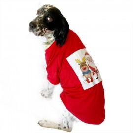 Noel Baba ve Rudolph Tişört Büyük Irk Köpekler İçin