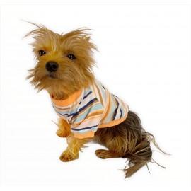 Nude Stripes Oval Yaka Tişört Köpek Kıyafeti Köpek Elbisesi