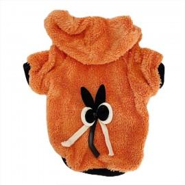 Orange Black Bunny Kapsonlu Sweatshirt Kedi Süeteri Kedi Kıyafeti