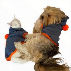 Orange Bunny Kapşon Ponponlu Sweatshirt Kedi Süeteri Kedi Kıyafeti