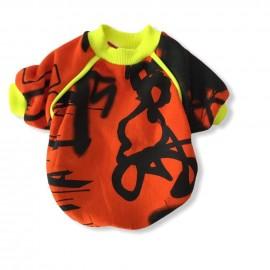 Orange Grafiti Sweatshirt Kedi Süeteri Kedi Kıyafeti