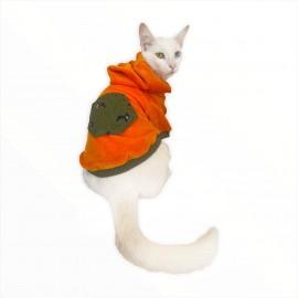 Orange Green Pocket  Sweatshirt Kedi Süeteri Kedi Kıyafeti