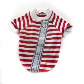 Red London Oval Yaka Tişört Kedi Kıyafeti Kedi Elbisesi