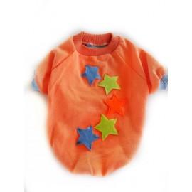 Orange Star Oval Yaka Tişört Kedi Kıyafeti Kedi Elbisesi