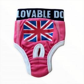 Pink England Flag Kemique's Secret Kedi İç Çamaşırı  Regl Külot  Don