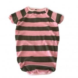 Pinky Green Stripe Tişört Orta ve Büyük Irk