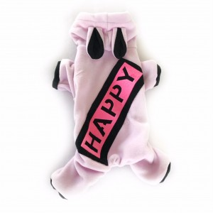 Pink Happy Köpek Tulumu Köpek Kıyafeti
