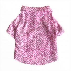 Pink Leo Neo Polo Yaka Tişört Kedi Kıyafeti  Kedi Elbisesi