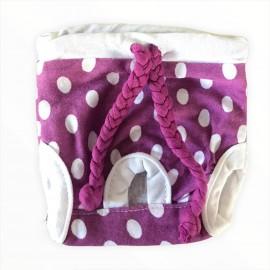 Purple Dots Kemique's Secret Kedi İç Çamaşırı  Regl Külot  Don