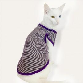 Purple Stripe Atlet By Kemique Kedi Kıyafeti Kedi Elbise