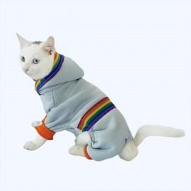 Rainbow Blue Kedi Tulumu Kedi Kıyafeti