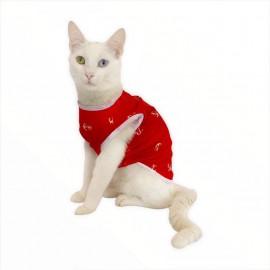 Red Anchor Atlet  by Kemique  Kedi Kıyafeti Kedi Elbise