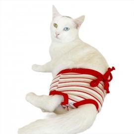 Red Grey Stripe  Kemique's Secret Kedi İç Çamaşırı  Regl Külot  Don