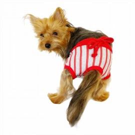 Red Mega Stripes Kemique's Secret Köpek İç Çamaşırı  REgl Külot  DON