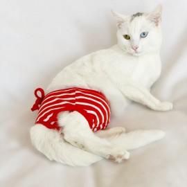 Red Stripes Kemique's Secret Kedi İç Çamaşırı  Regl Külot  Don