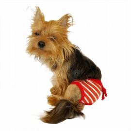 Red Stripes Kemique's Secret Köpek İç Çamaşırı  REgl Külot  DON