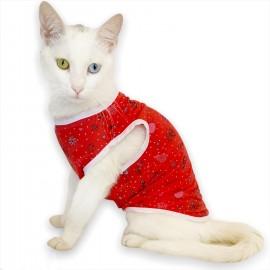 Red World Atlet by Kemique Kedi Kıyafeti Kedi Elbise