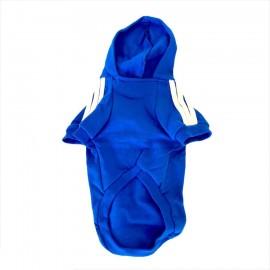 Saks mavi Adidog Kapşonlu Kedi Sweatshirt Kedi Kazağı