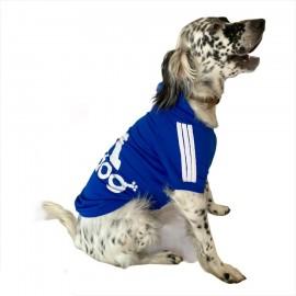 Saks Mavi Adidog Sporty Kapşonlu Sweatshirt Orta ve Büyük Irklar İçin