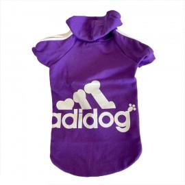 Mor Adidog Sporty Kapşonlu Sweatshirt Orta ve Büyük Irklar İçin