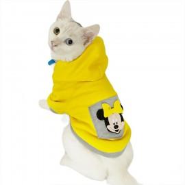 Sarı Sevimli Fare Kapsonlu Sweatshirt Kedi Süeteri Kedi Kıyafeti