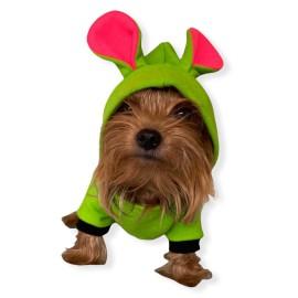 Shipy Pink Stripe Kulaklı Köpek Tulumu Kıyafeti