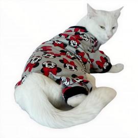 Nighty Mickey Penye Tulum Kedi Tulumu Kedi Elbisesi