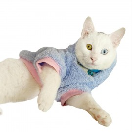 Softie Blue Bunny Kapsonlu Sweatshirt Kedi Süeteri Kedi Kıyafeti