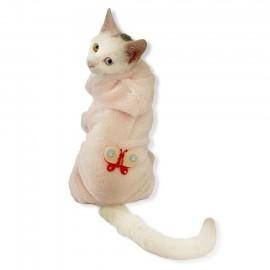 Softie Pink Butterfly Kedi Tulumu Kedi Kıyafeti