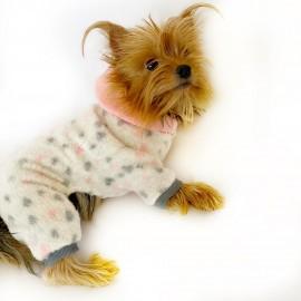 Softie Spotty Pink Köpek Tulumu Köpek Kıyafeti