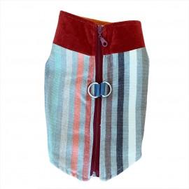 Stripe Bordo Köpek Ceketi, Orta ve Büyük ırklar için