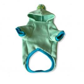 Su Yeşili Kelebek Kapsonlu Sweatshirt Kedi Süeteri Kedi Kıyafeti