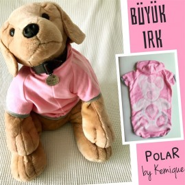 Teddy Polar Kapşonlu Pembe Sweatshirt
